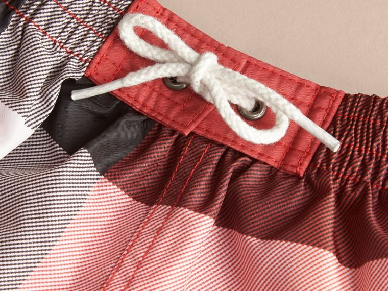 Check Swim Shorts in Parade Red | Burberry Hong Kong - cell image 1