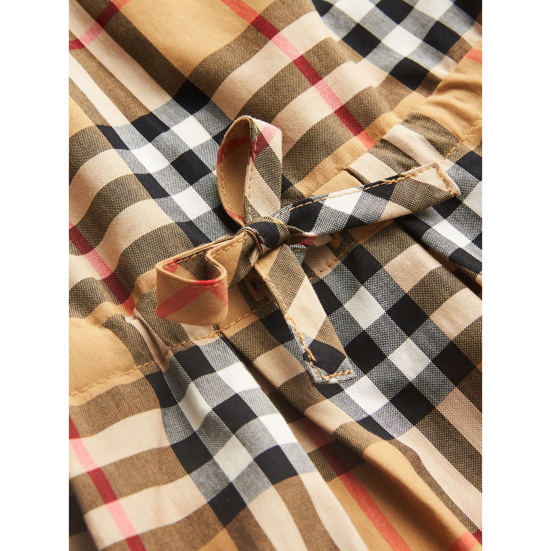 Vintage Check Cotton Drawcord Dress in Antique Yellow - Children | Burberry Singapore - gallery image 1