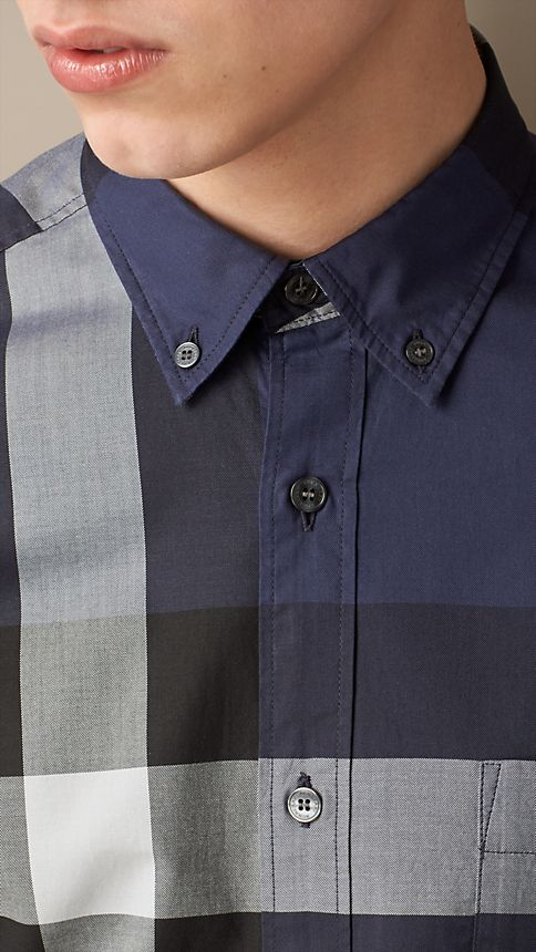 Ink Giant Exploded Check Cotton Shirt - Image 3