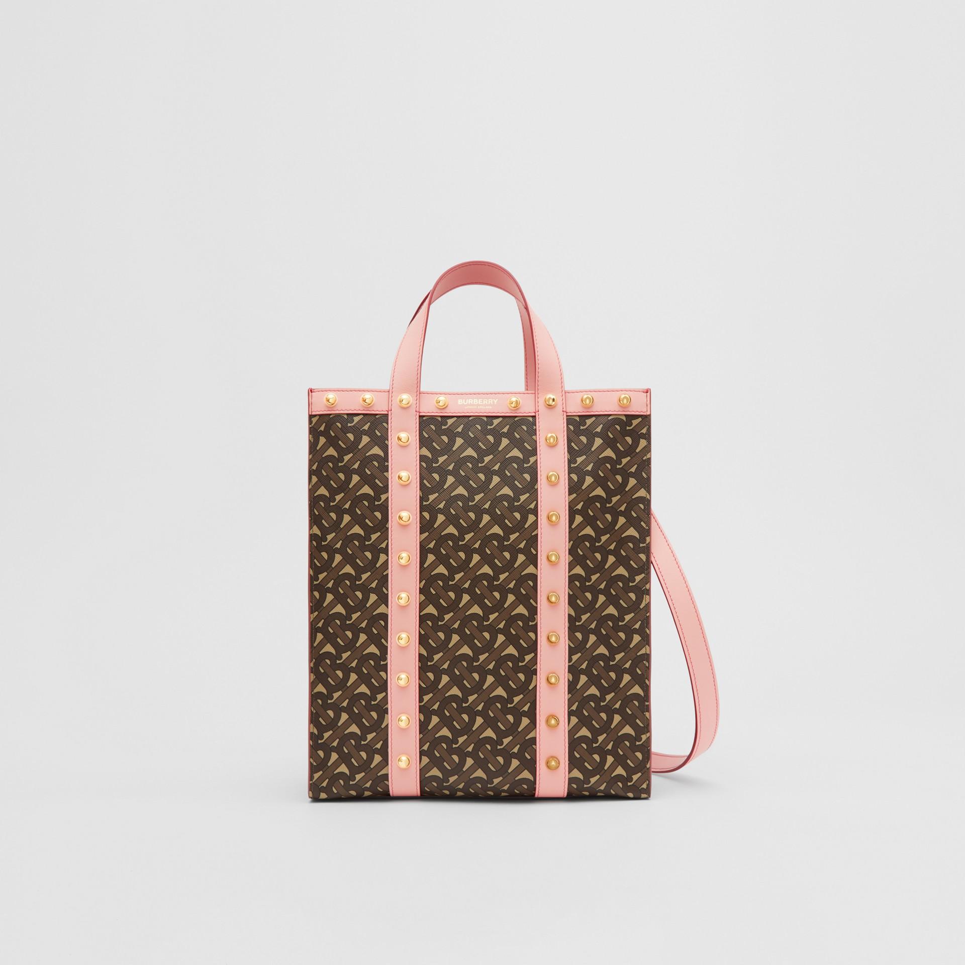 小型花押字印花環保帆布直式托特包 (雲粉紅) - 女款 | Burberry - 圖庫照片 0