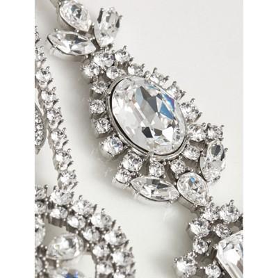 Crystal Daisy Chain Chandelier Brooch Women