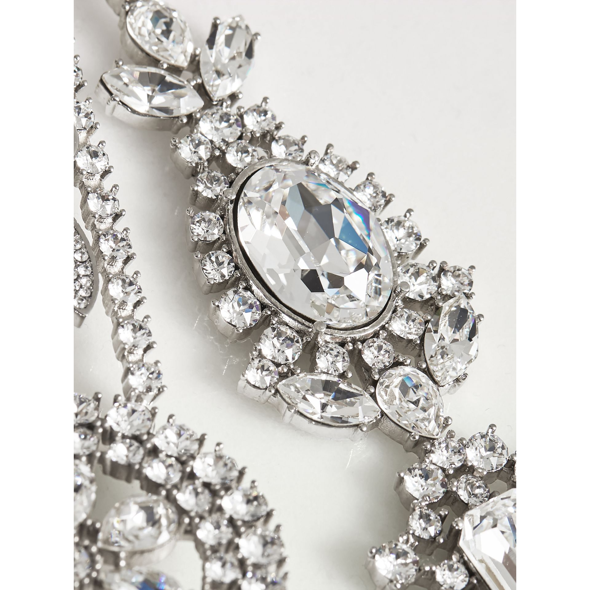 Crystal Daisy Chain Chandelier Brooch - Women | Burberry - gallery image 1