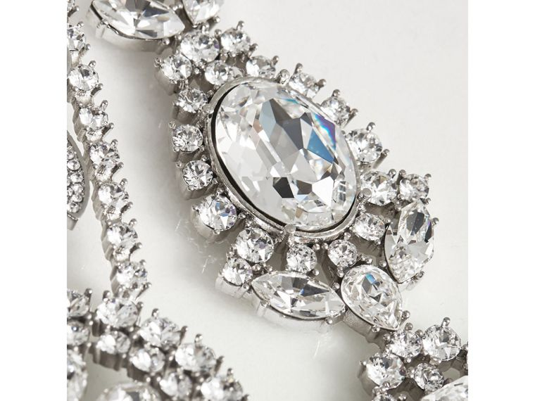 Crystal Daisy Chain Chandelier Brooch - Women | Burberry United Kingdom - cell image 1