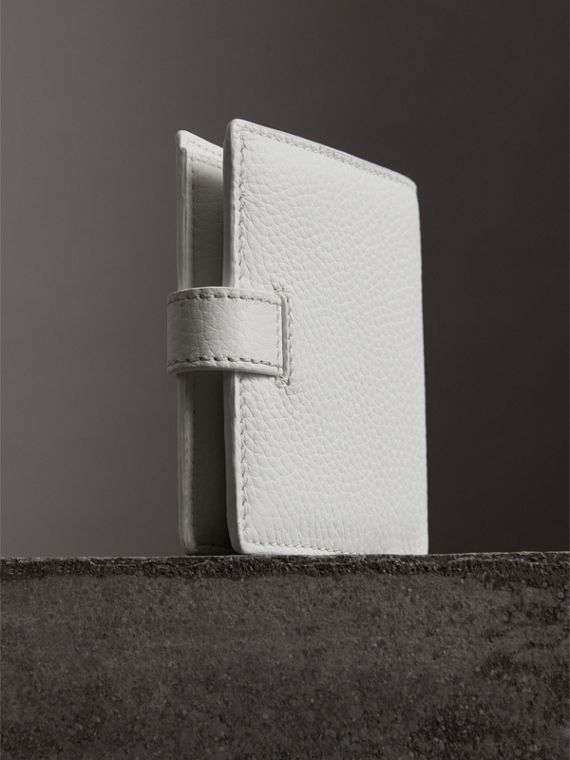 Embossed Leather Folding Wallet in Chalk White - Women | Burberry United States - cell image 2