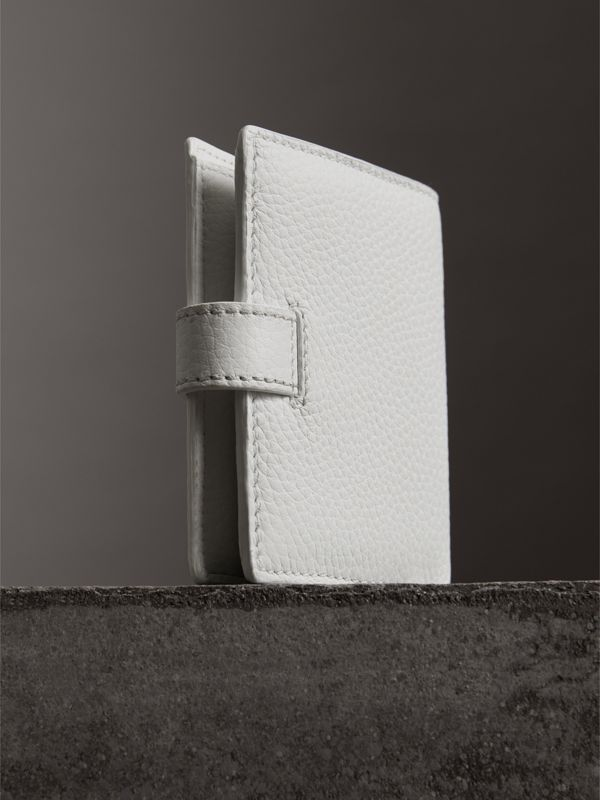 Embossed Leather Folding Wallet in Chalk White - Women | Burberry United Kingdom - cell image 2