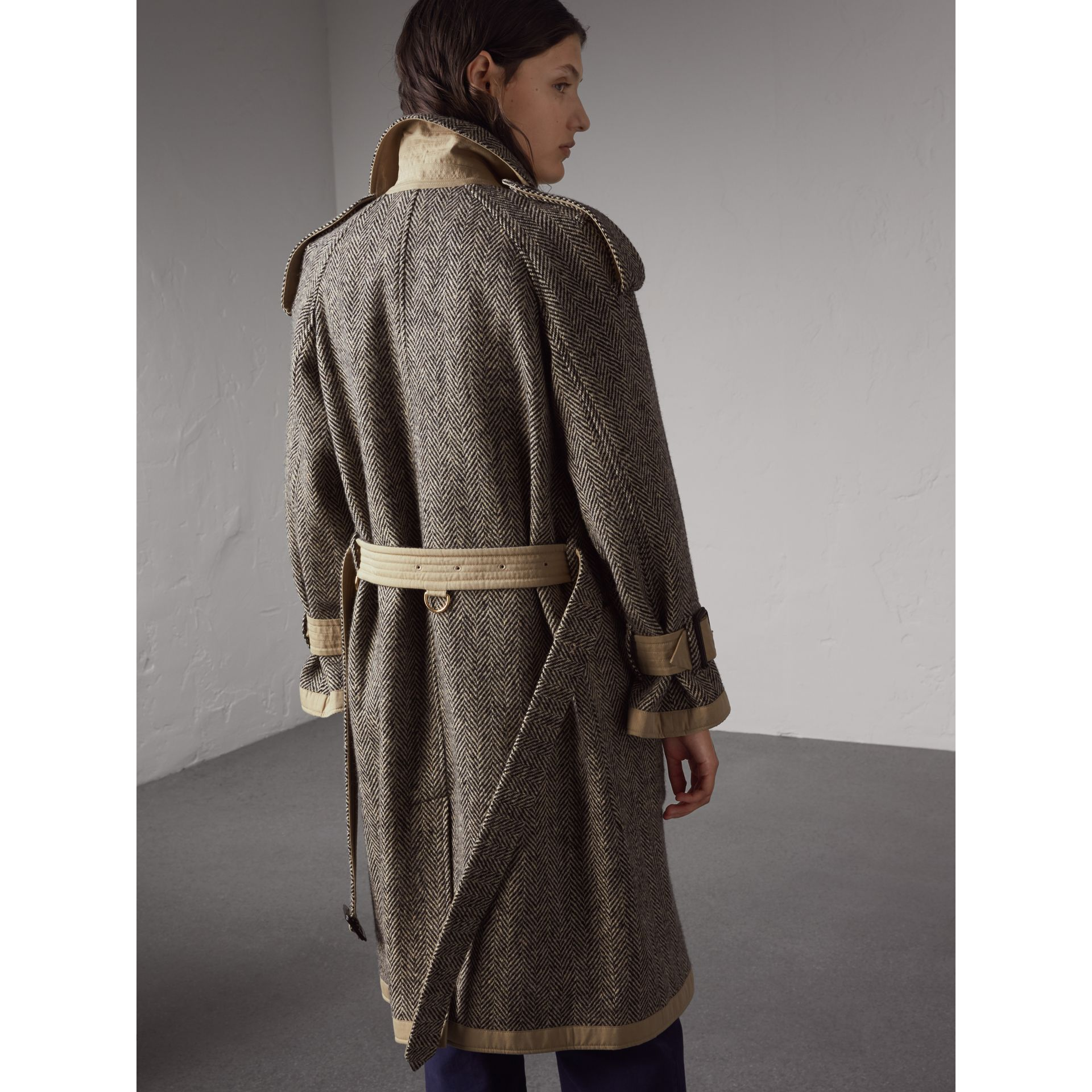 Reversible Donegal Tweed and Gabardine Trench Coat - Women | Burberry - gallery image 3