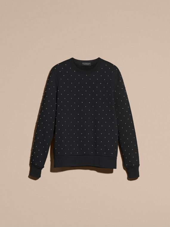Black Riveted Jersey Sweatshirt - cell image 3