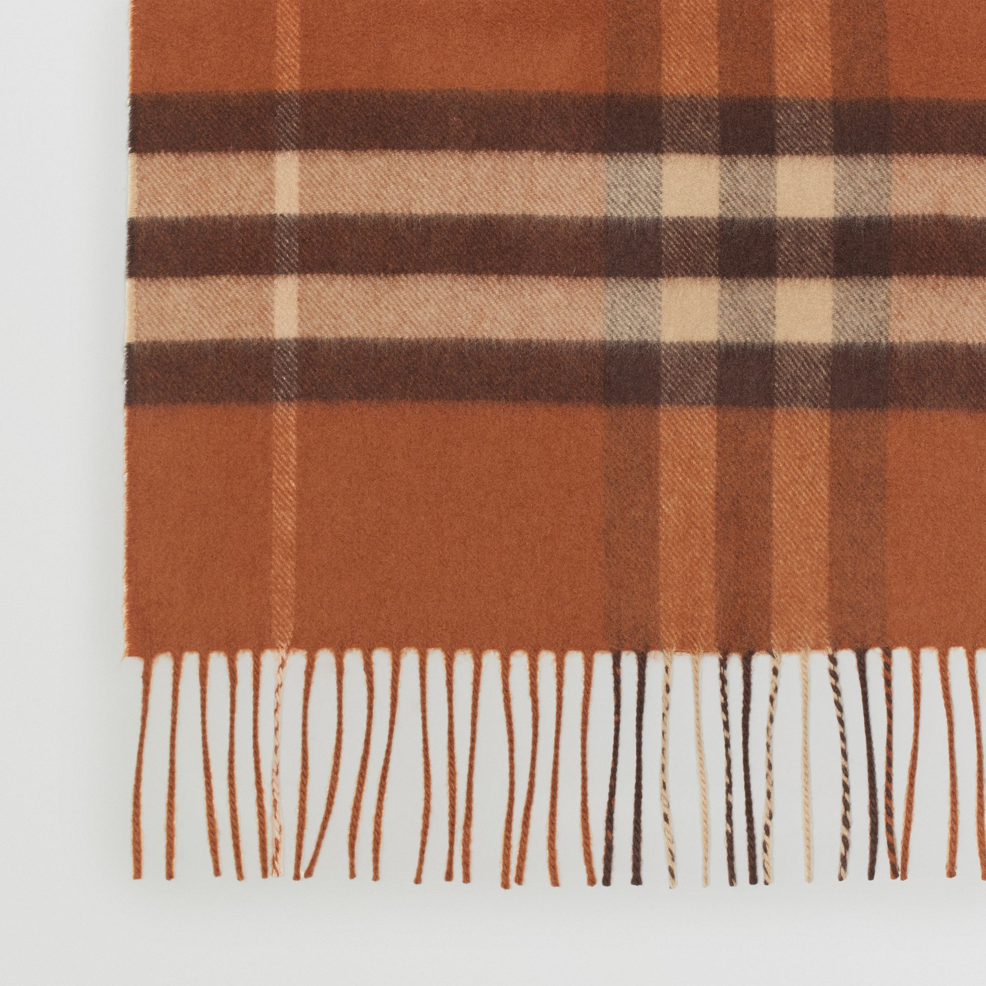 The Classic Check Cashmere Scarf in Chestnut | Burberry - gallery image 1
