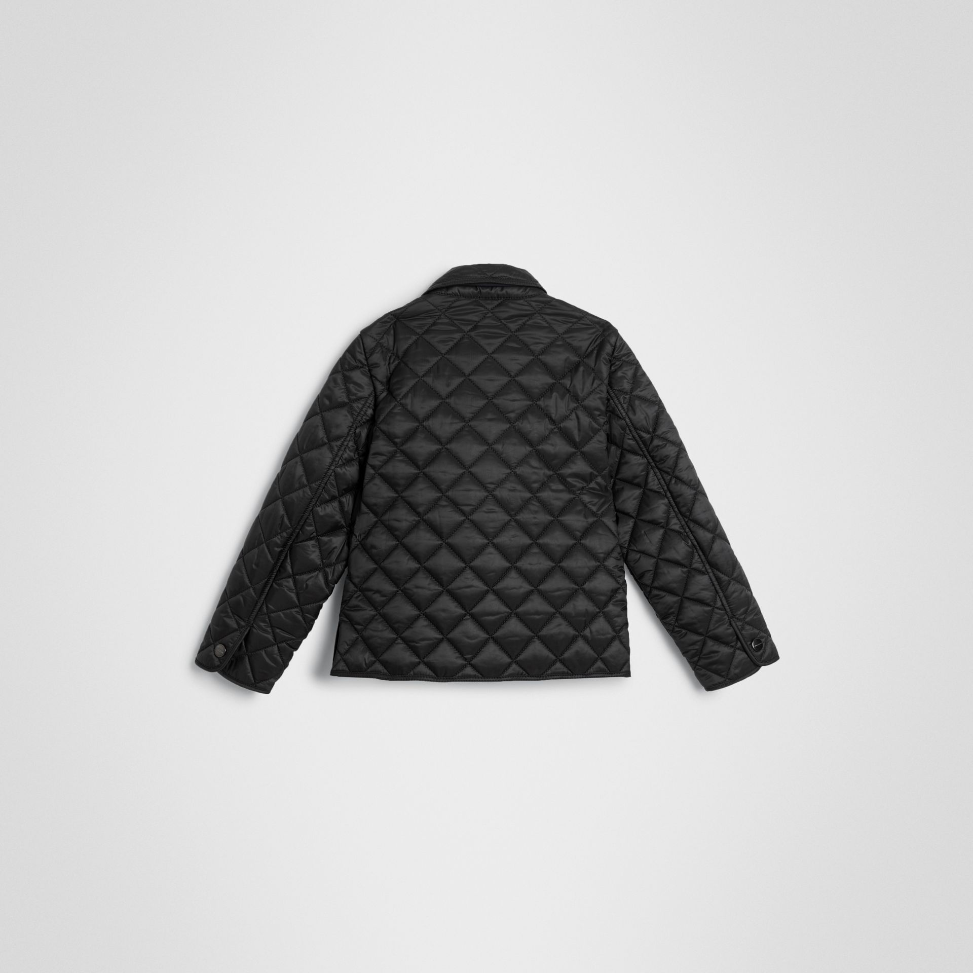 Lightweight Diamond Quilted Jacket in Black | Burberry Australia - gallery image 3