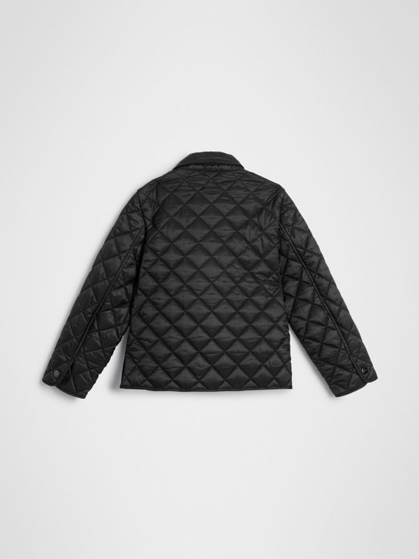 Lightweight Diamond Quilted Jacket in Black | Burberry Australia - cell image 3