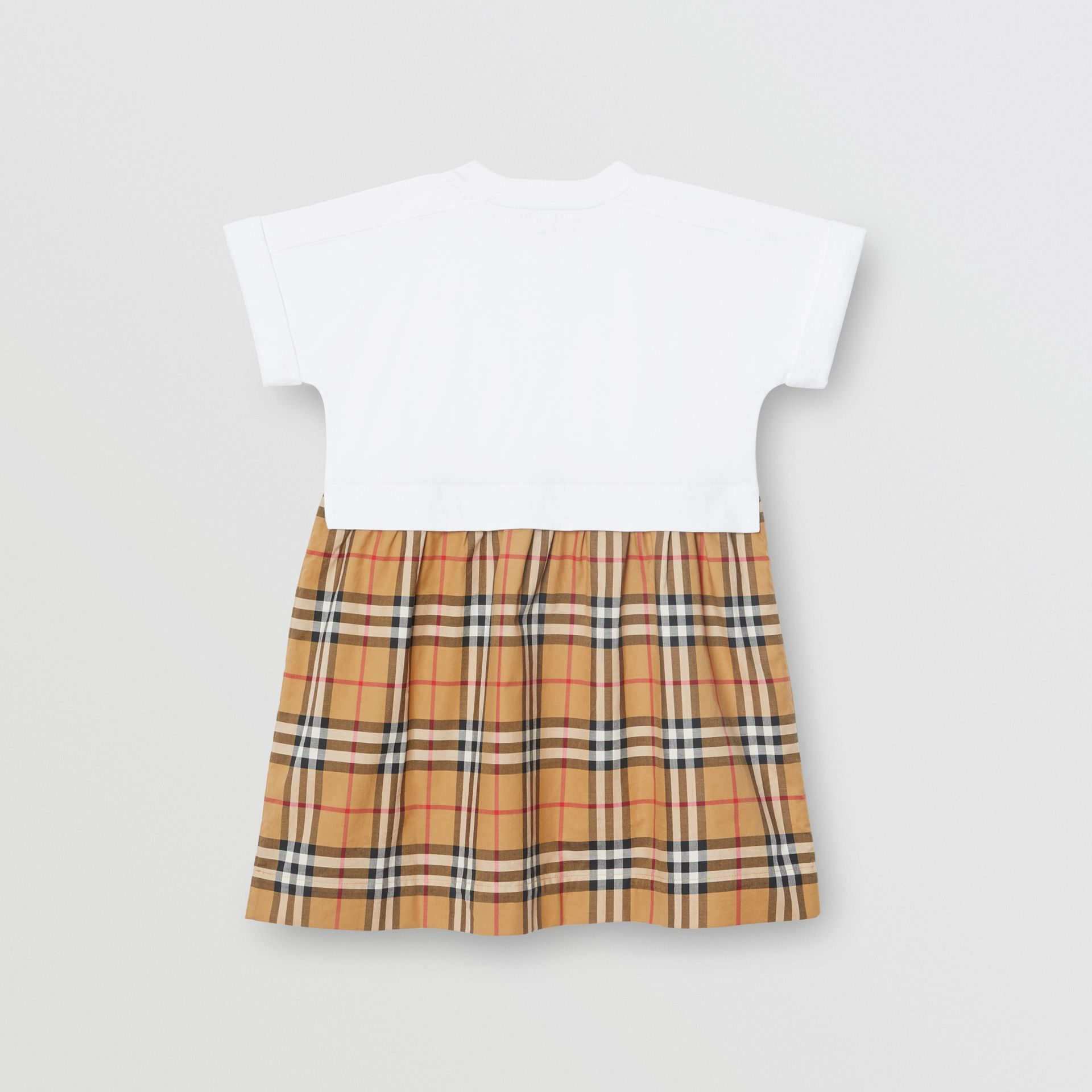 Vintage Check Cotton Dress in White | Burberry Hong Kong - gallery image 3