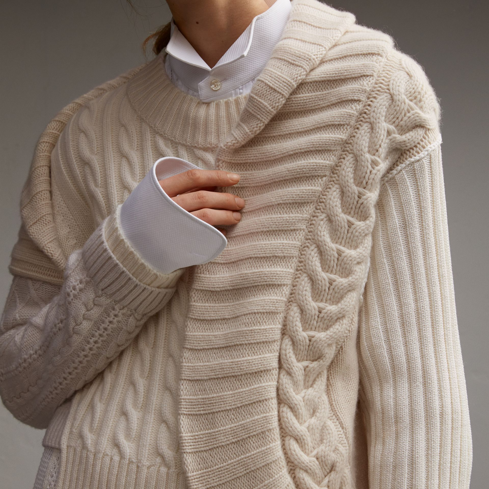 Panelled Cashmere, Cotton and Wool Sweater - Women | Burberry - gallery image 5
