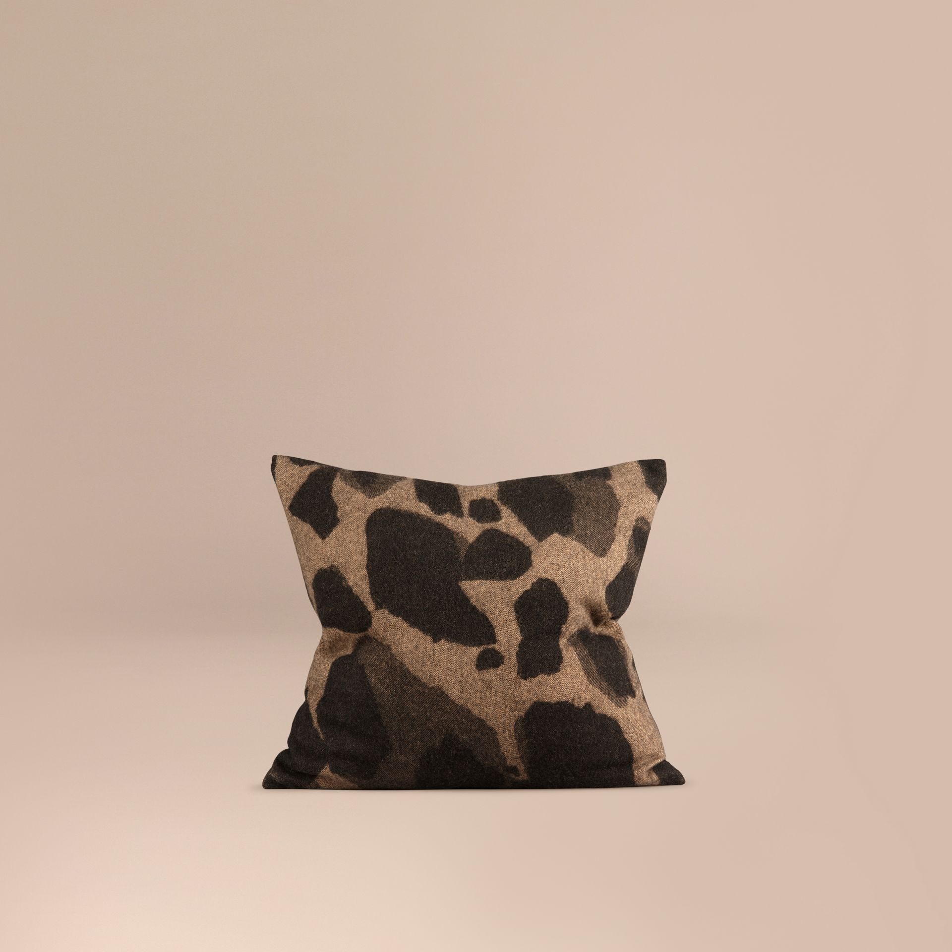 Camel Animal Jacquard Cashmere Cushion Cover Camel - gallery image 1