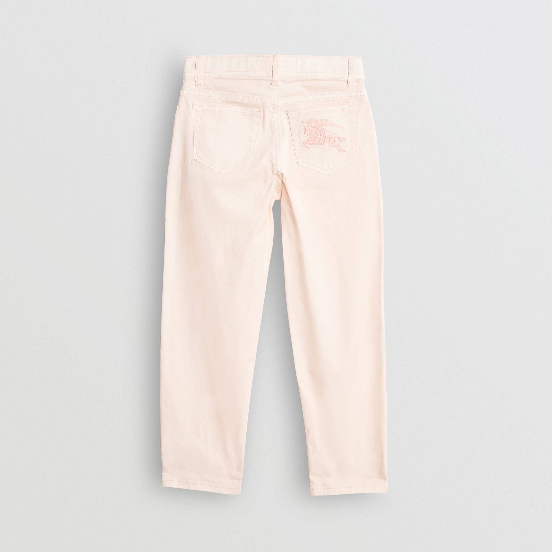 Relaxed Fit Stretch Denim Jeans in Pale Rose Pink - Girl | Burberry Singapore - gallery image 3