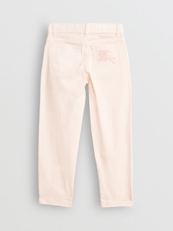 Relaxed Fit Stretch Denim Jeans in Pale Rose Pink - Girl | Burberry Singapore - cell image 3