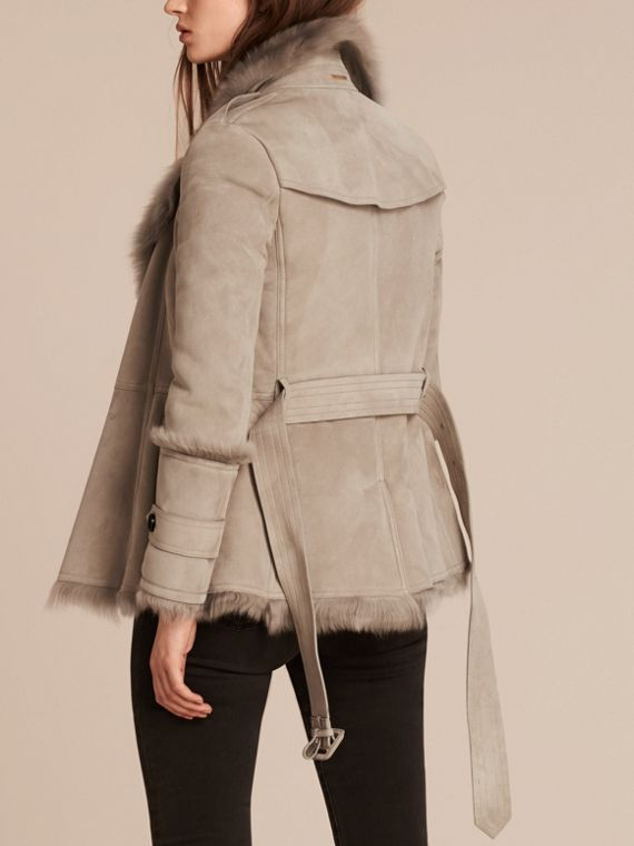 Pale grey Shearling Wrap Jacket - cell image 2