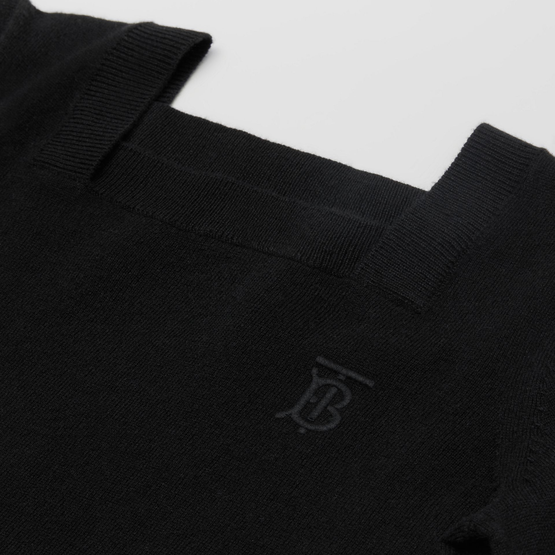Monogram Motif Cashmere Sweater Dress in Black | Burberry - gallery image 1