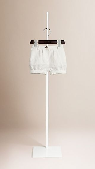 Cotton Linen Chino Shorts