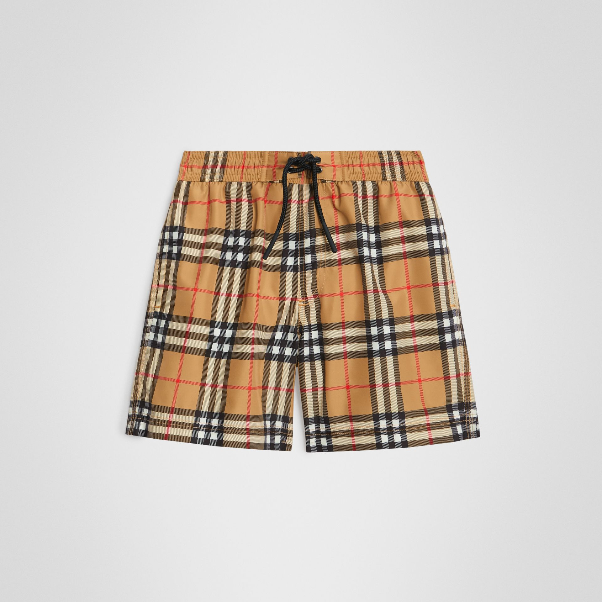 Vintage Check Swim Shorts in Antique Yellow - Boy | Burberry Canada - gallery image 0