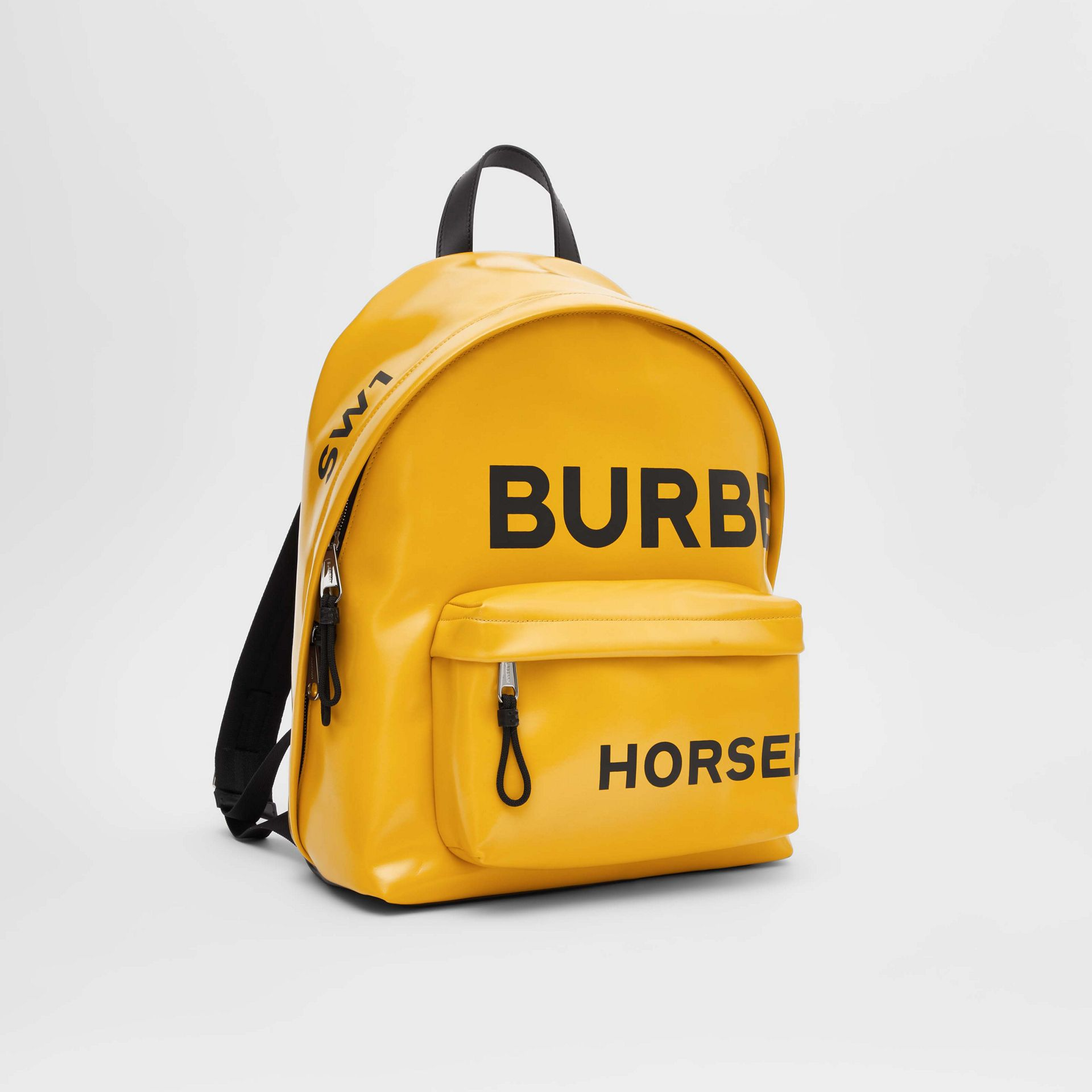 Horseferry Print Coated Canvas Backpack in Yellow | Burberry - gallery image 6