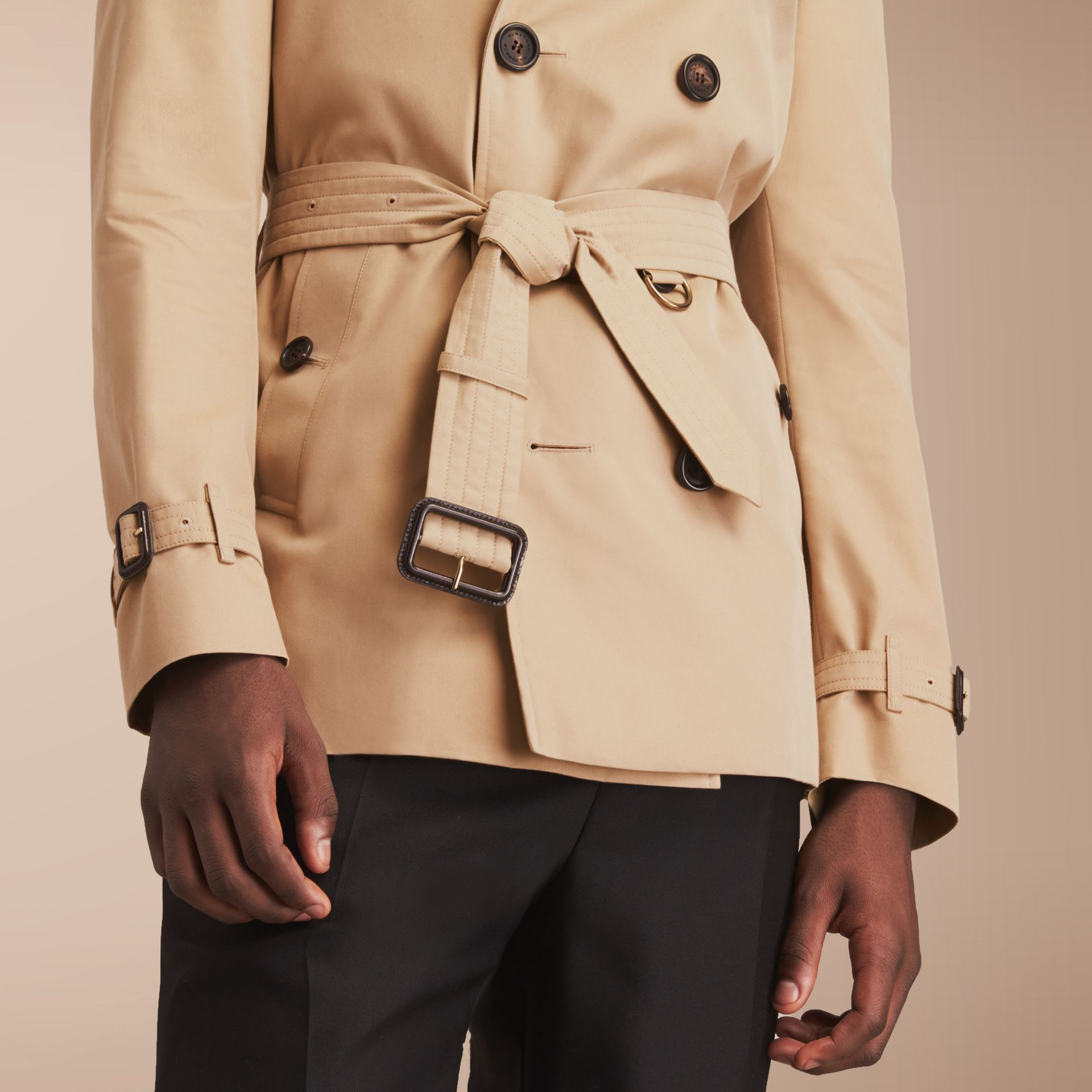The Chelsea – Short Heritage Trench Coat in Honey - gallery image 9