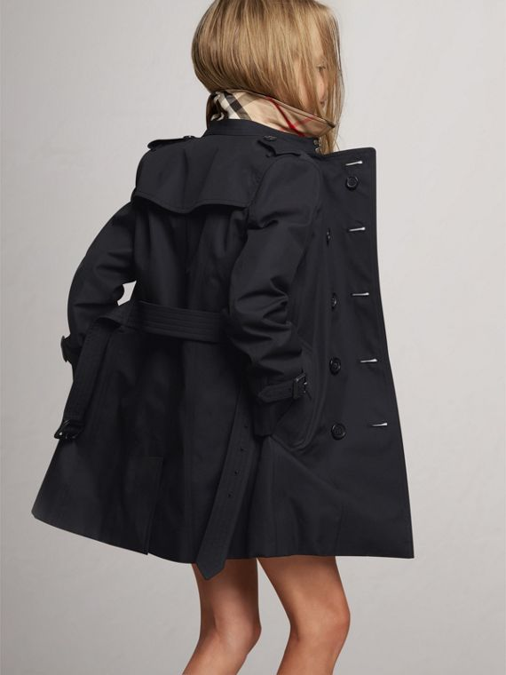 The Sandringham Trench Coat in Navy - Girl | Burberry United Kingdom - cell image 3