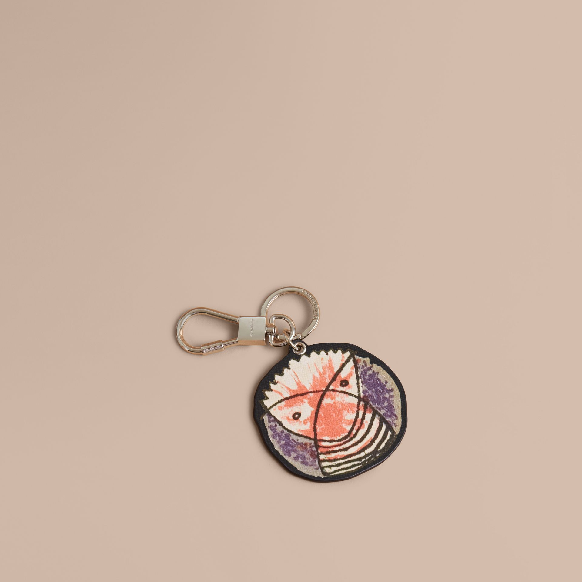 Pallas Heads Print Leather Key Ring - gallery image 1