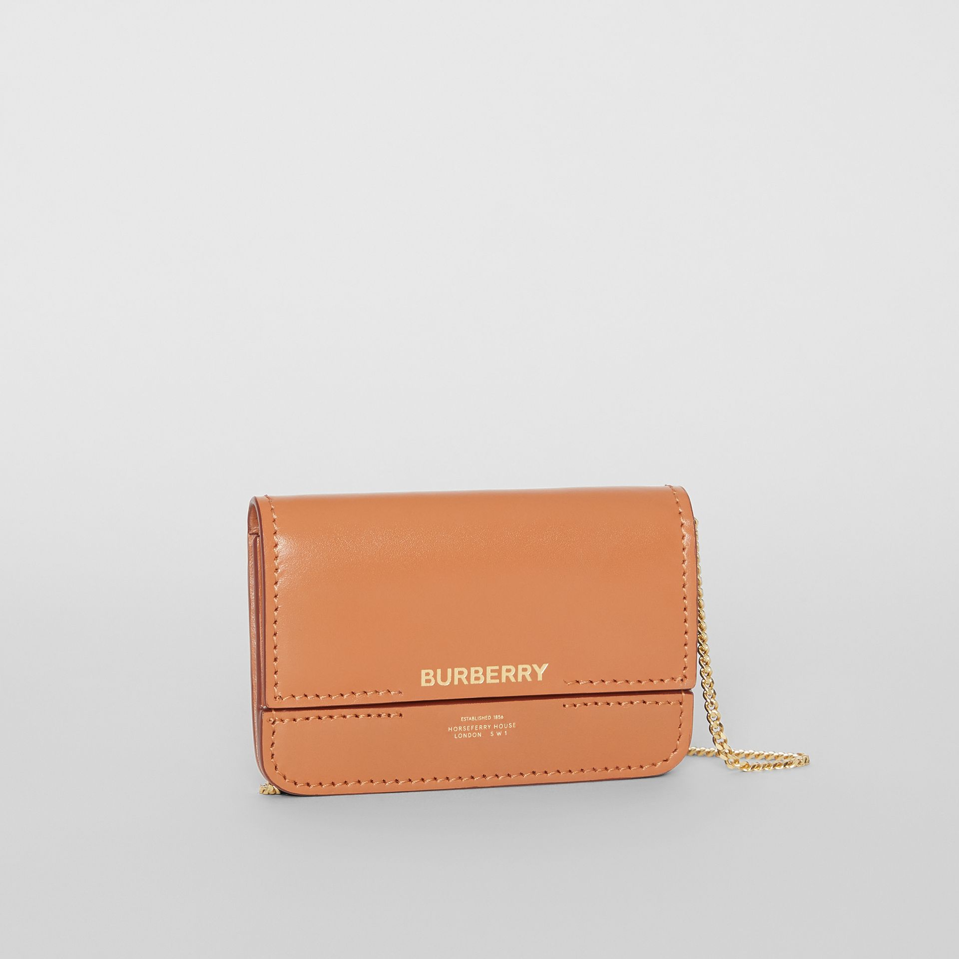 Horseferry Print Card Case with Detachable Strap in Nutmeg | Burberry - gallery image 4
