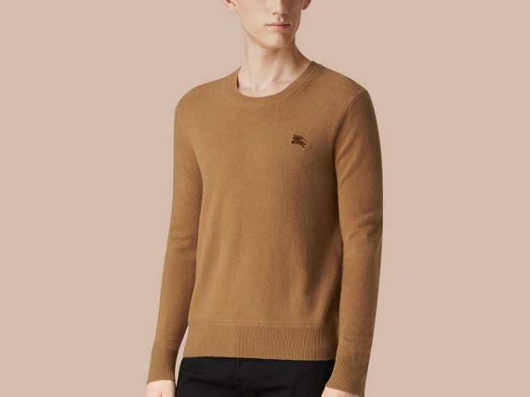 Crew Neck Cashmere Sweater Mid Camel - cell image 2