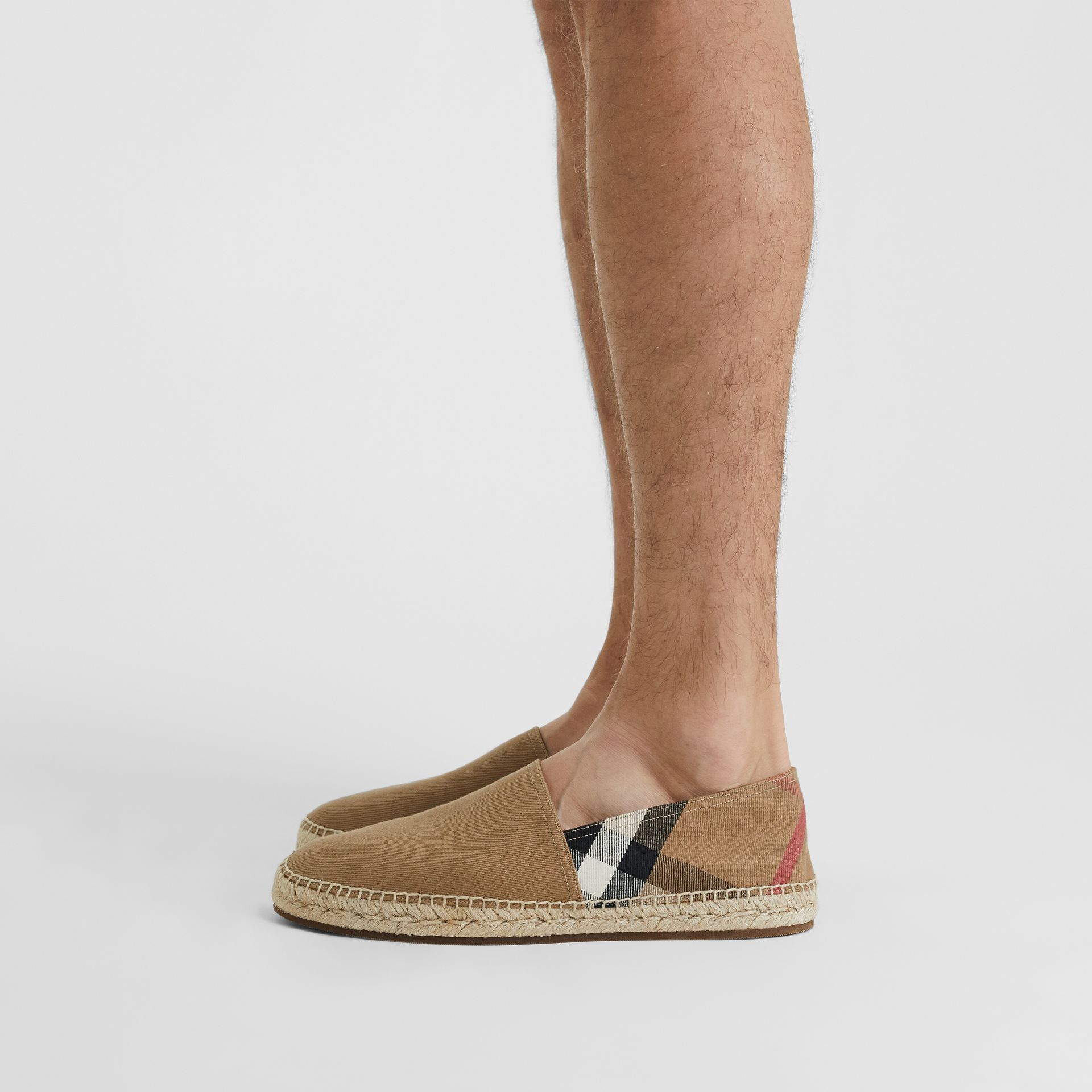 Canvas Check Espadrilles in Classic - Men | Burberry United States - gallery image 2