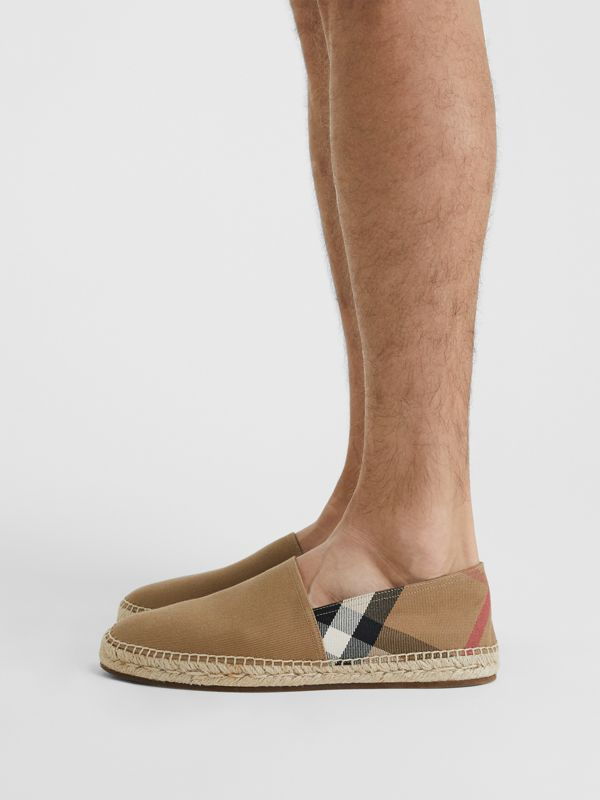 Canvas Check Espadrilles in Classic - Men | Burberry - cell image 2