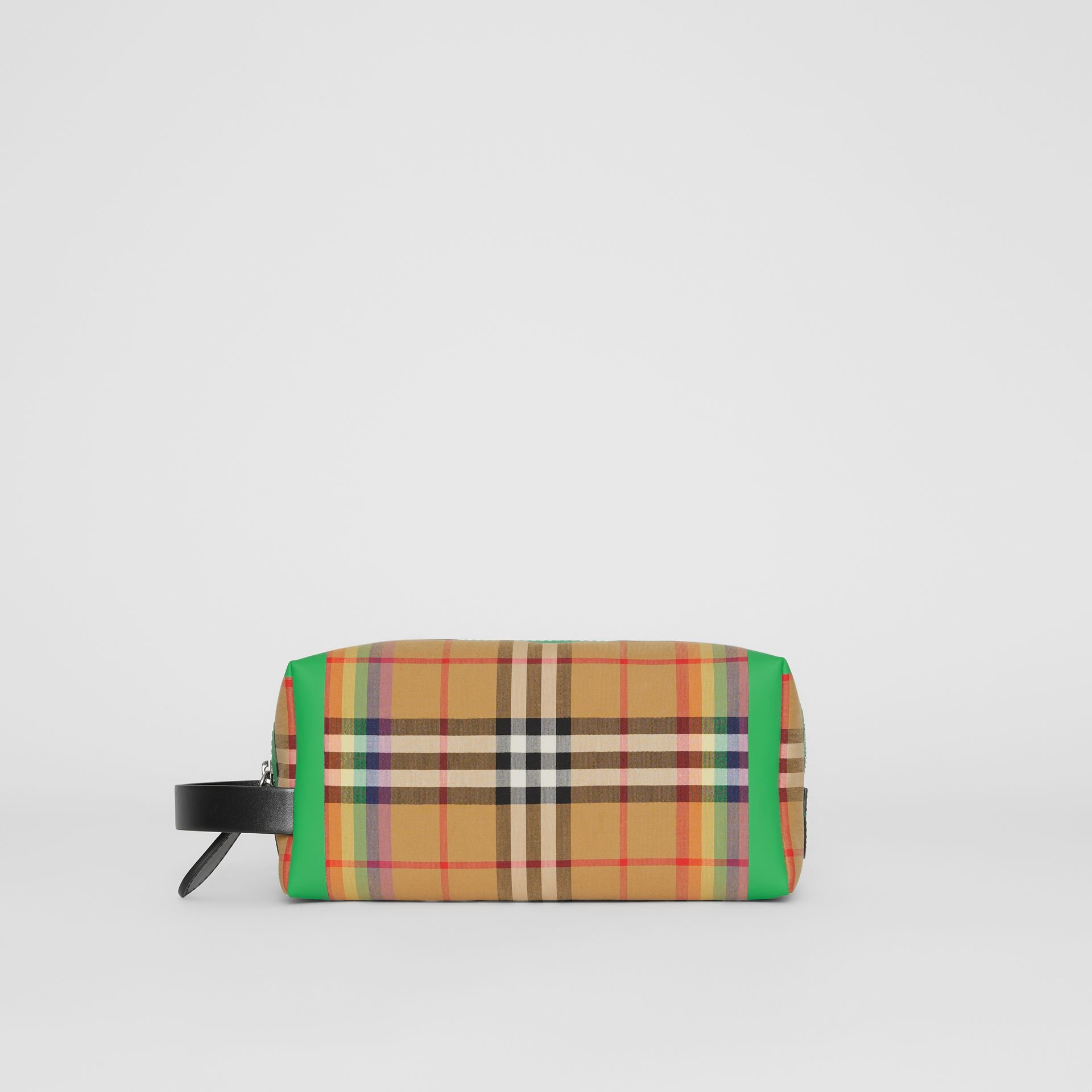 Rainbow Vintage Check Cotton Pouch in Antique Yellow | Burberry - gallery image 8