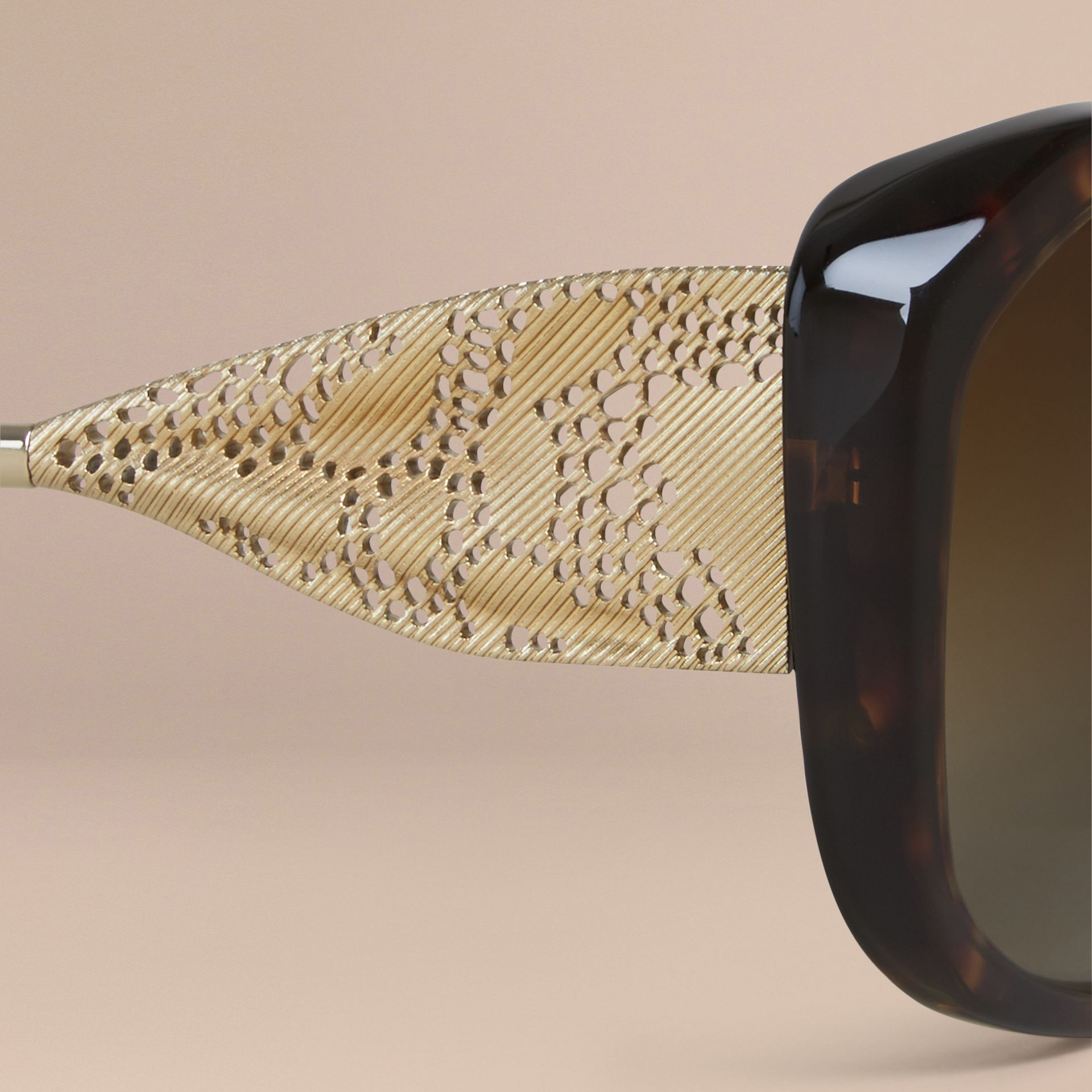 Gabardine Collection Square Frame Sunglasses in Tortoise Shell - gallery image 5