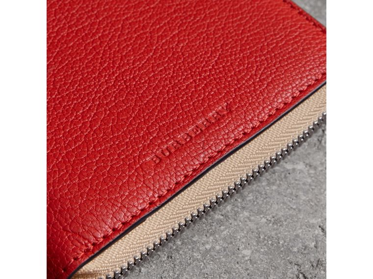 Two-tone Leather Ziparound Wallet in Bright Red - Men | Burberry - cell image 1