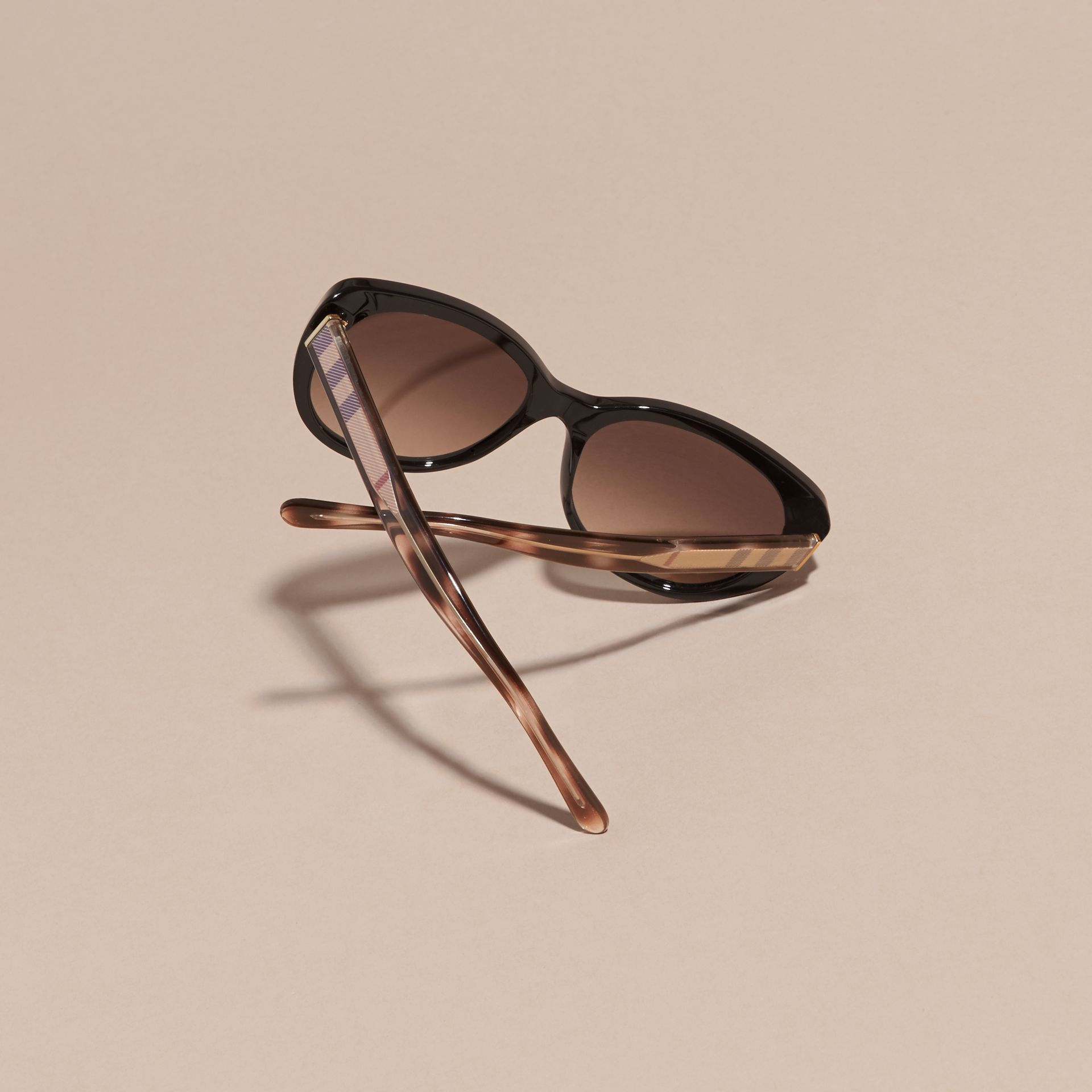 Check Detail Cat-eye Sunglasses - Women | Burberry - gallery image 4