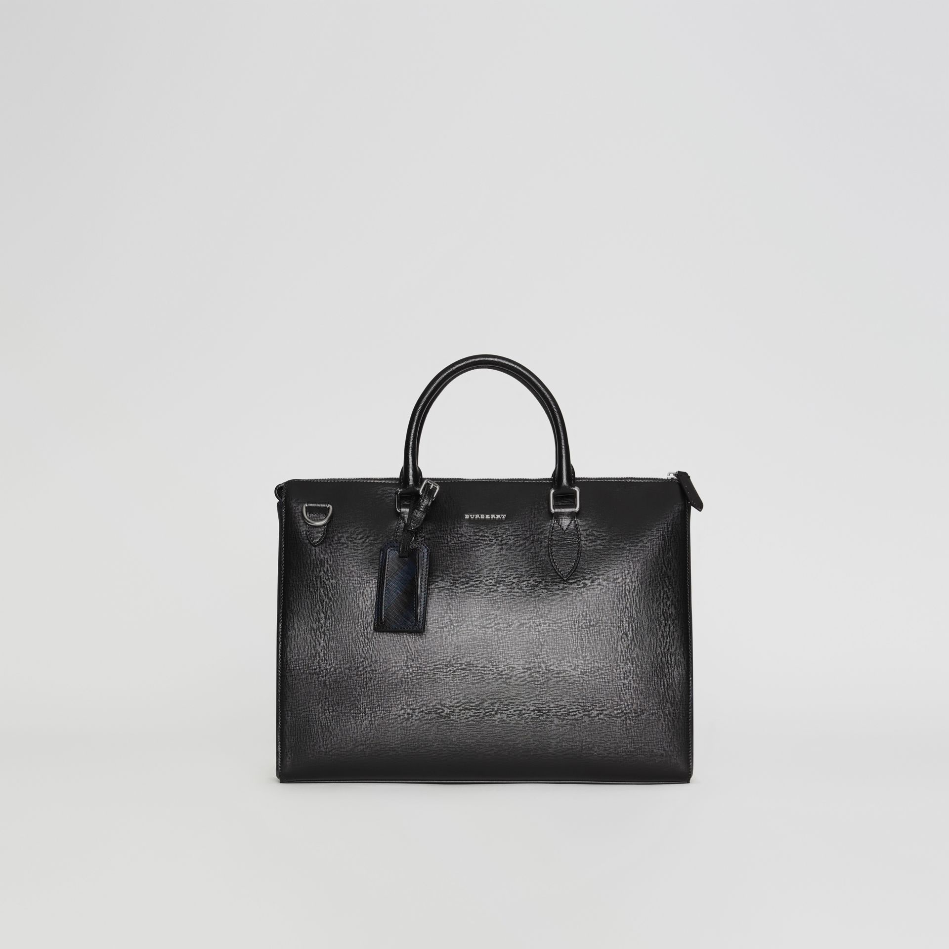 Large London Leather Briefcase in Black - Men | Burberry - gallery image 0