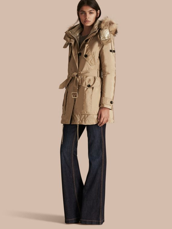 Fur-trimmed Parka with Detachable Down-filled Jacket Sisal