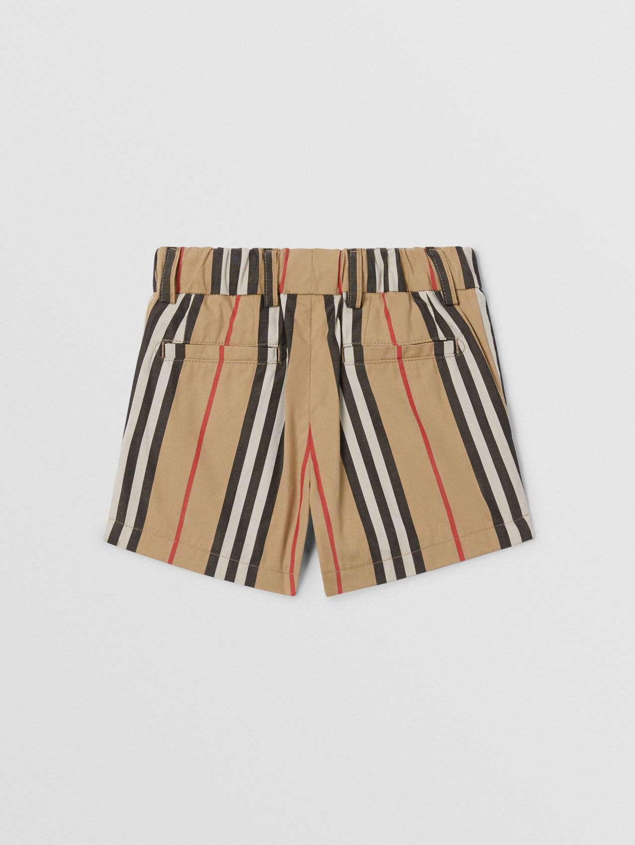 Icon Stripe Cotton Chino Shorts in Archive Beige