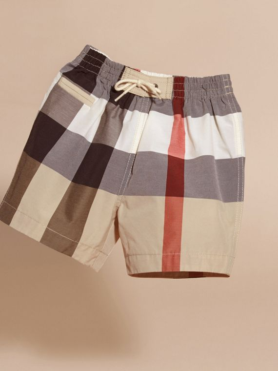 Check Technical Cotton Swim Shorts - cell image 2