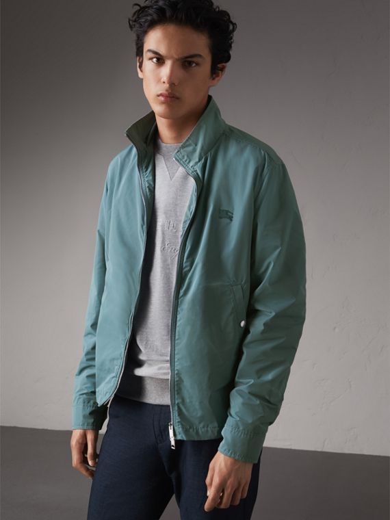 Lightweight Technical Jacket in Powder Green - Men | Burberry
