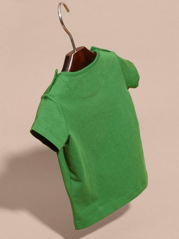 Verde felce brillante T-shirt girocollo in cotone Verde Felce Brillante - cell image 3