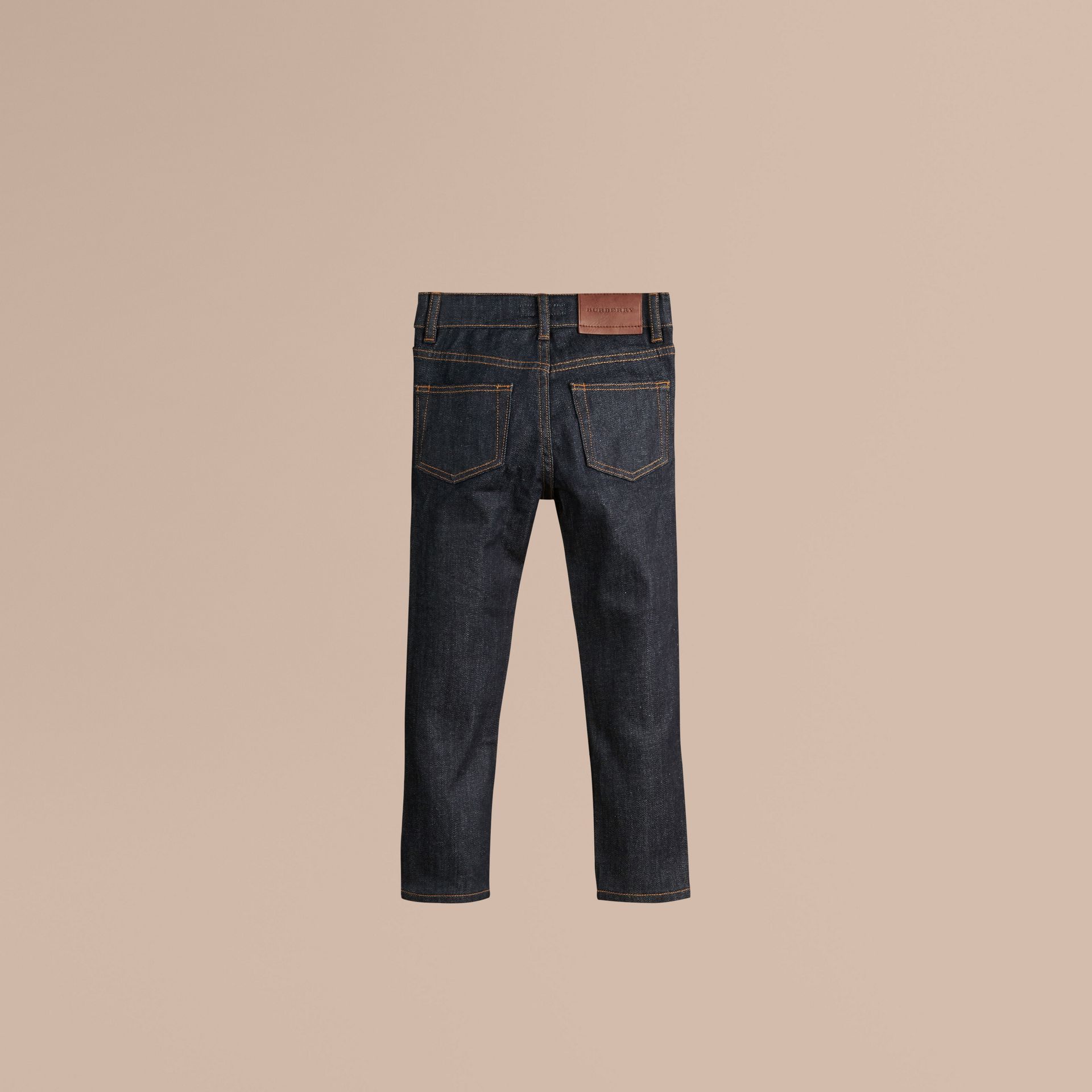 Relaxed Fit Indigo Jeans in Dark - Boy | Burberry - gallery image 3