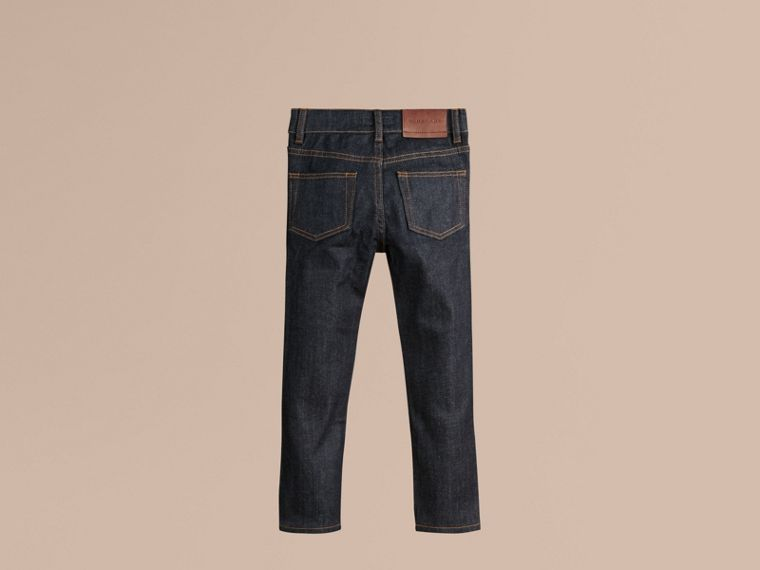 Relaxed Fit Indigo Jeans in Dark - Boy | Burberry United Kingdom - cell image 2