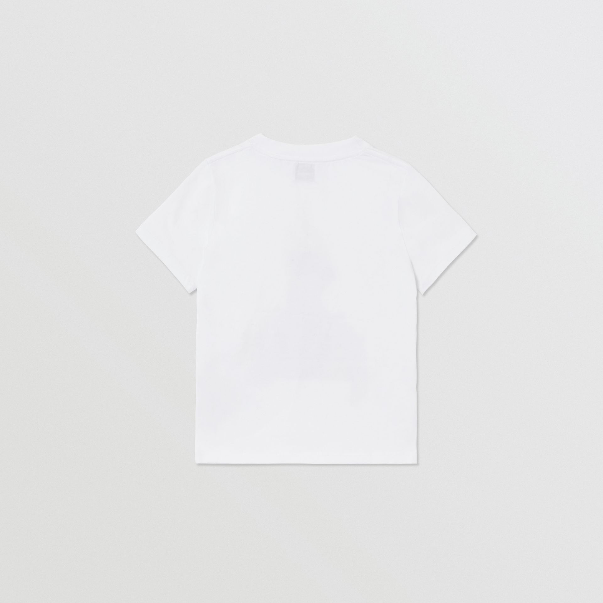 Collage Print Cotton T-shirt in White | Burberry Australia - gallery image 4
