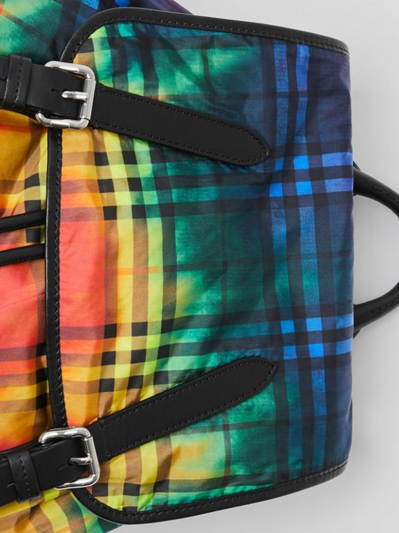 The Large Rucksack in Tie-dye Vintage Check in Multicolour | Burberry Australia - cell image 1