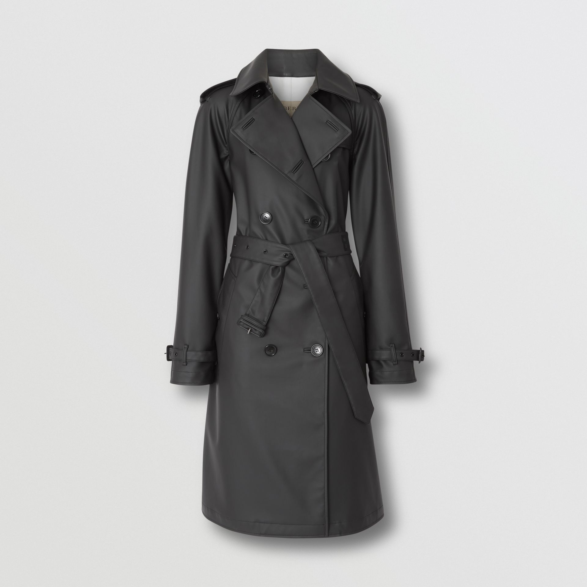 Logo Detail Showerproof Trench Coat in Black/white - Women | Burberry - gallery image 3
