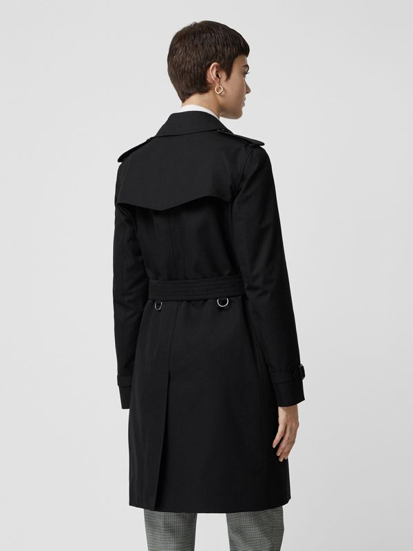 Kensington Fit Cotton Gabardine Trench Coat in Black - Women | Burberry - cell image 2