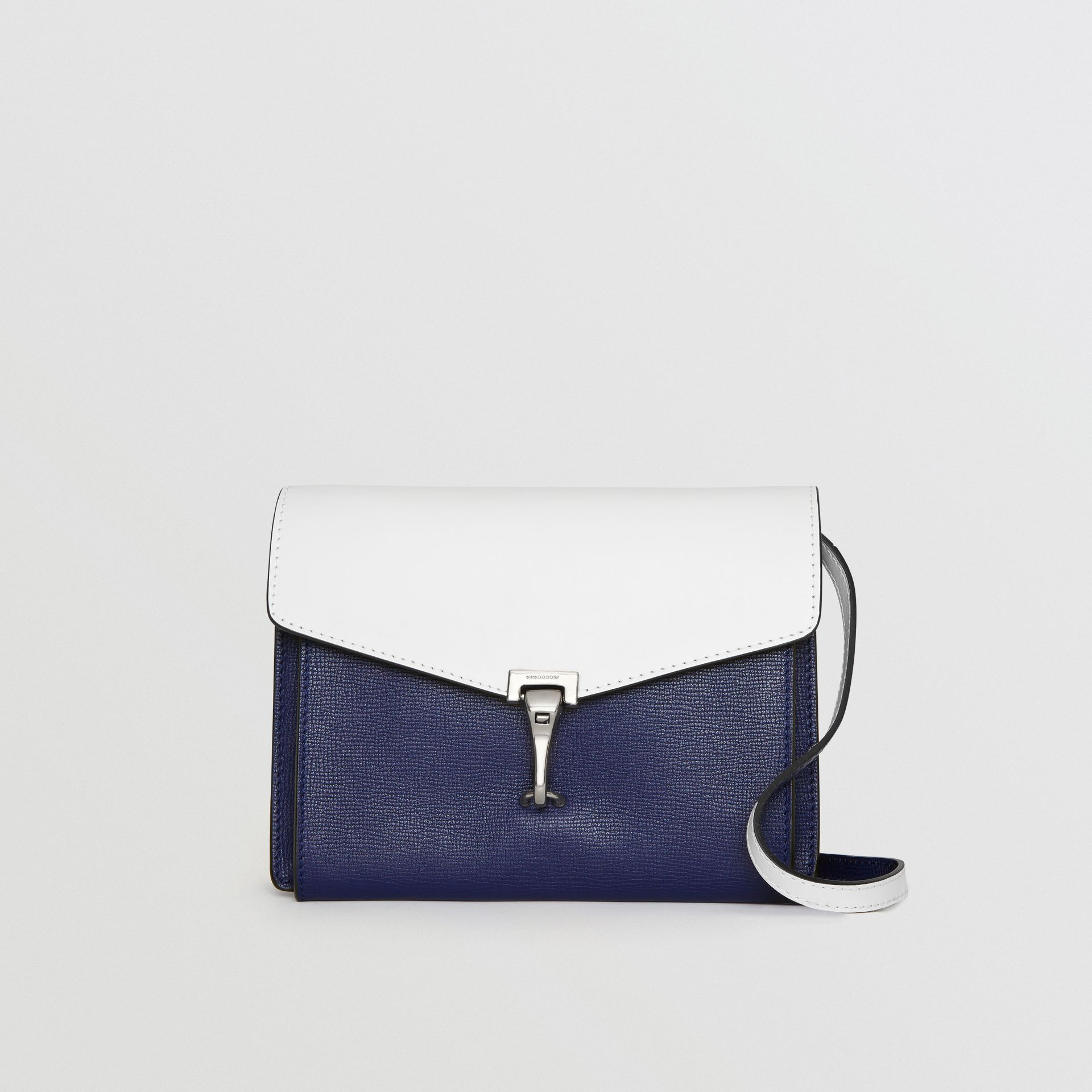 Two-tone Leather Crossbody Bag in Regency Blue/chalk White - Women | Burberry Hong Kong - gallery image 0