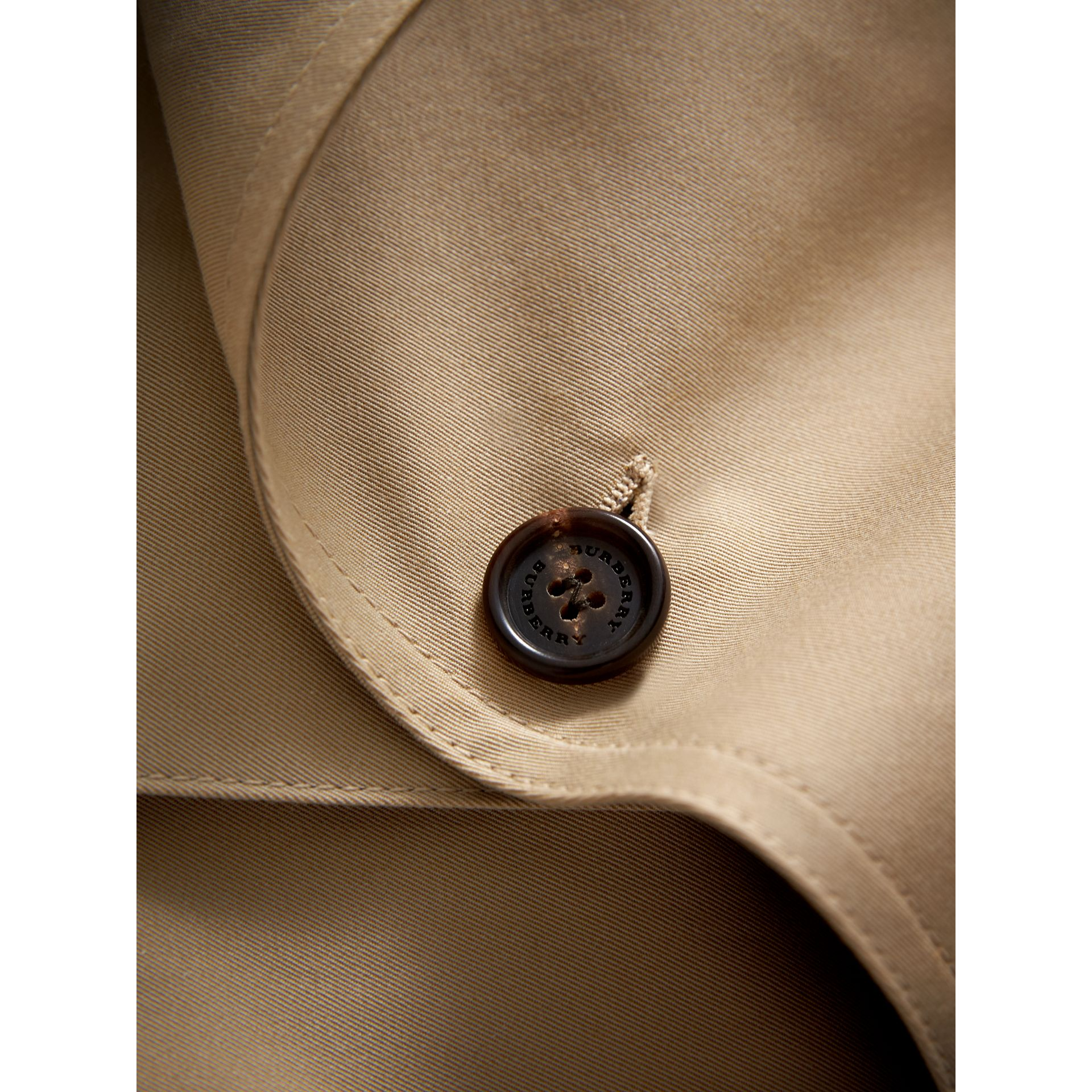 Panel Detail Cotton Gabardine Trench Coat in Honey | Burberry - gallery image 1
