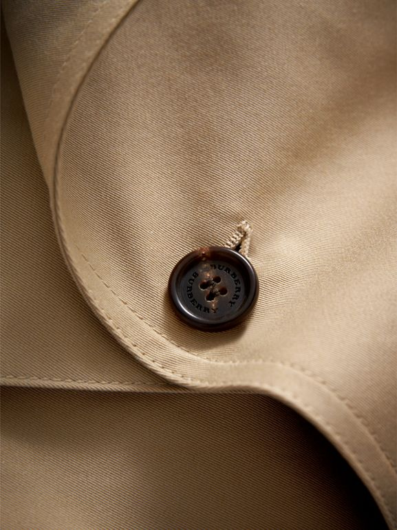Panel Detail Cotton Gabardine Trench Coat in Honey | Burberry - cell image 1